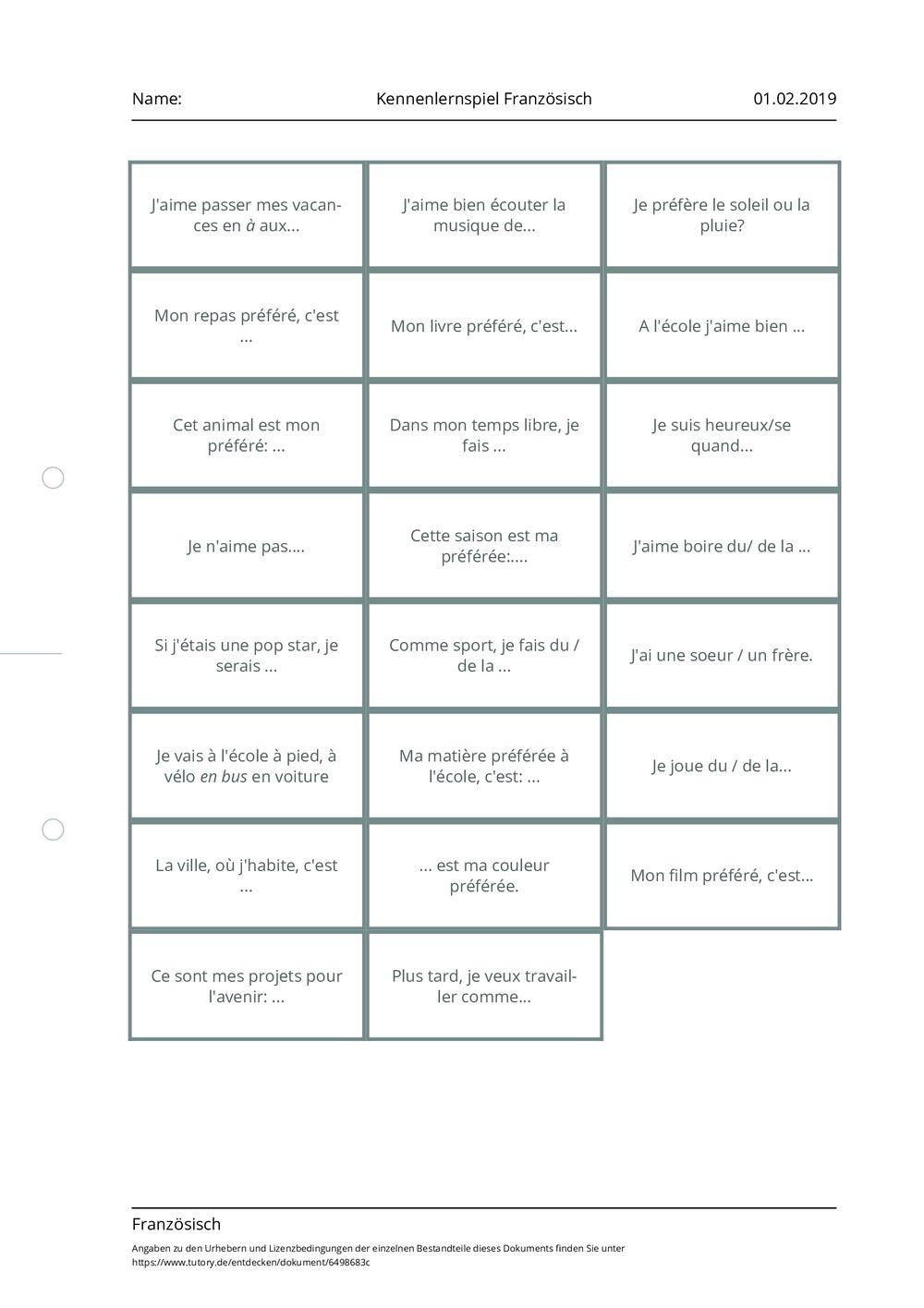 Kennenlernen dialog franzosisch