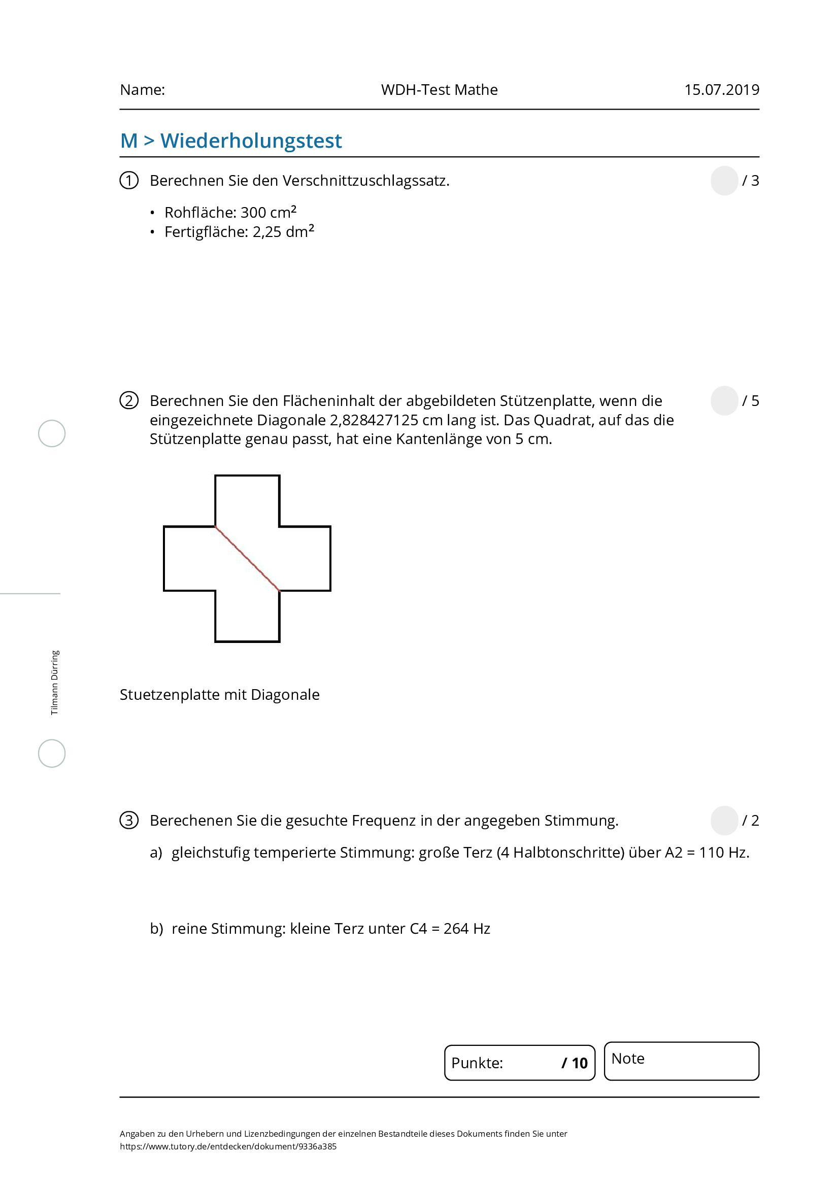 WDH-Test Mathe