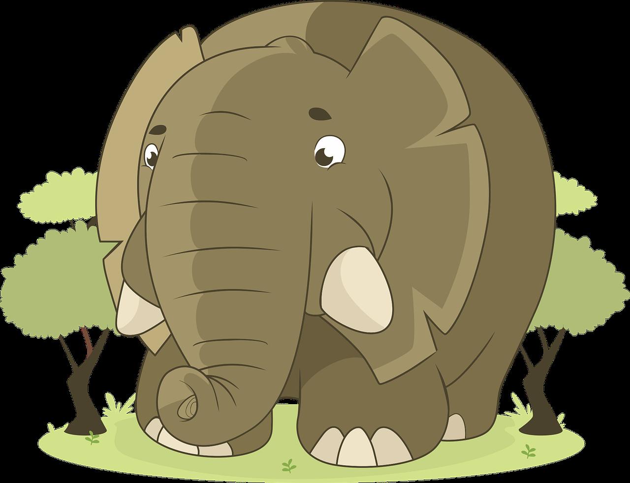 der Elefant/-en