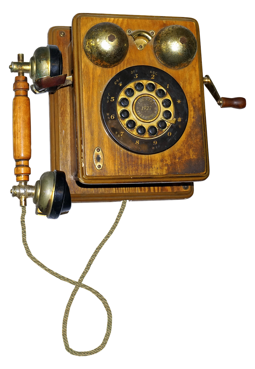 Telefóno antiguo.