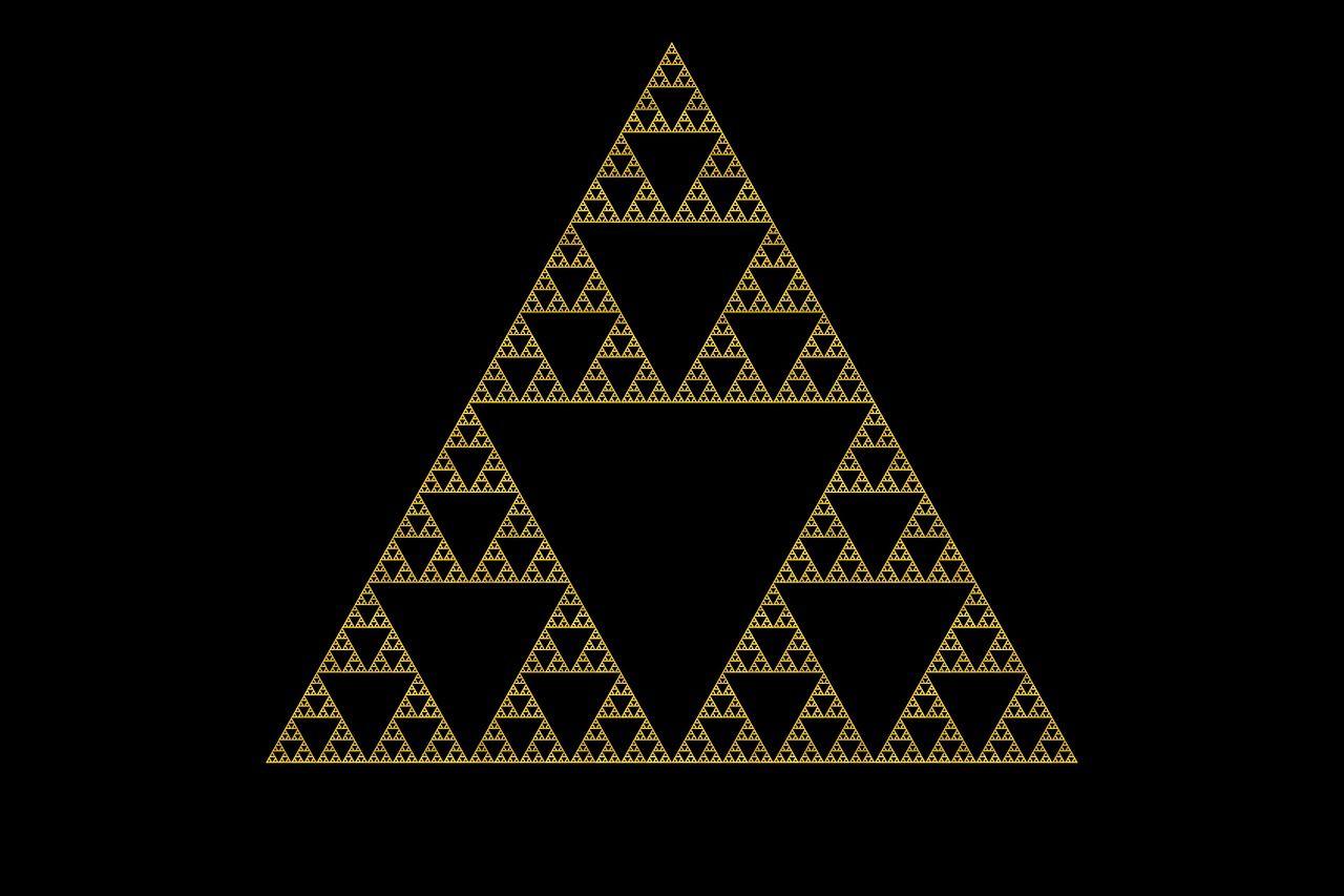 gleichseitiges Sierpinsky-Dreieck