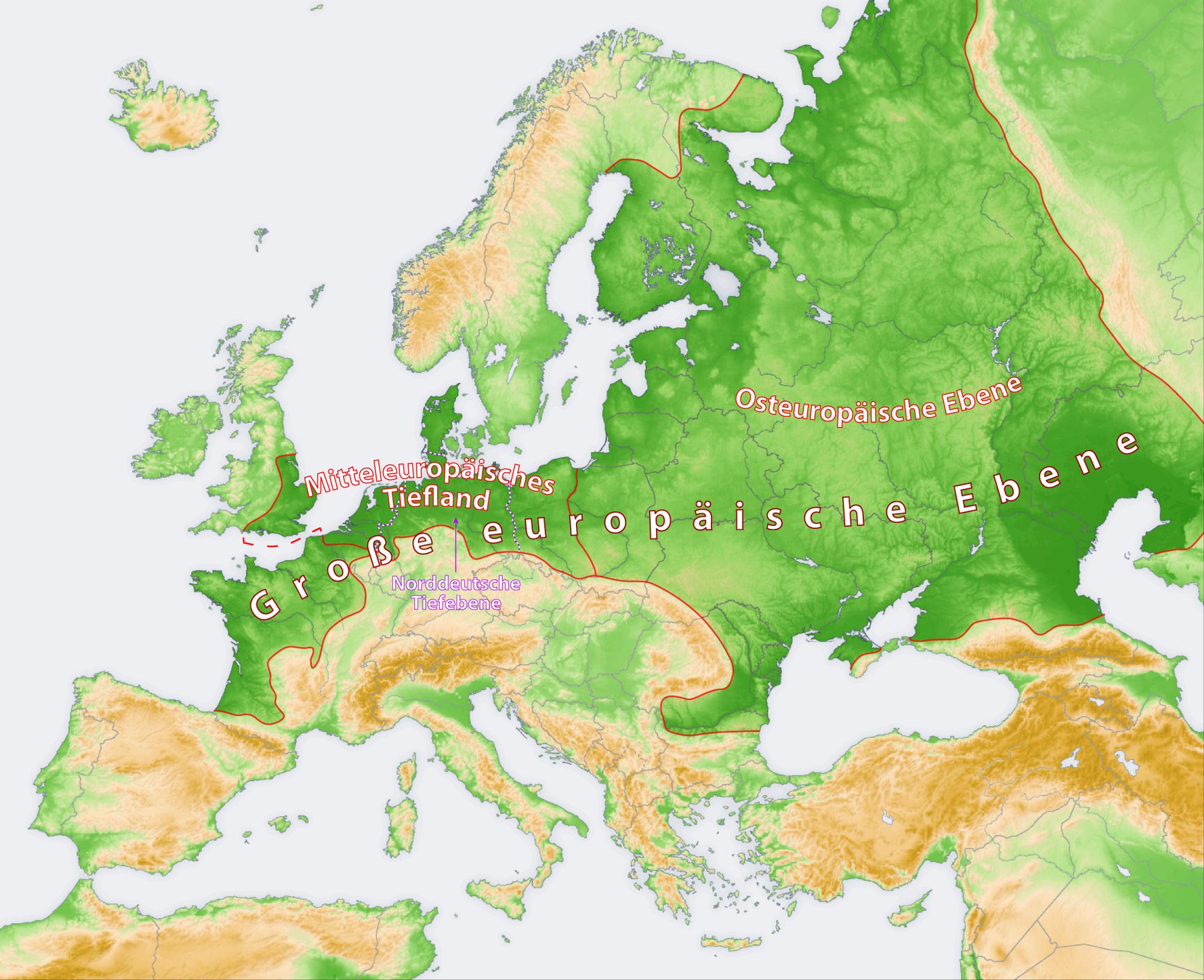 Europa voll flach