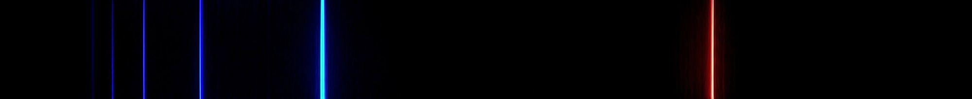 Spektrum von Wasserstoff, wenn es durch Wärme angeregt worden ist.