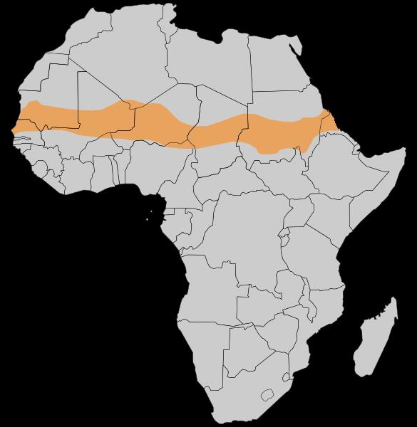 Karte des Sahel