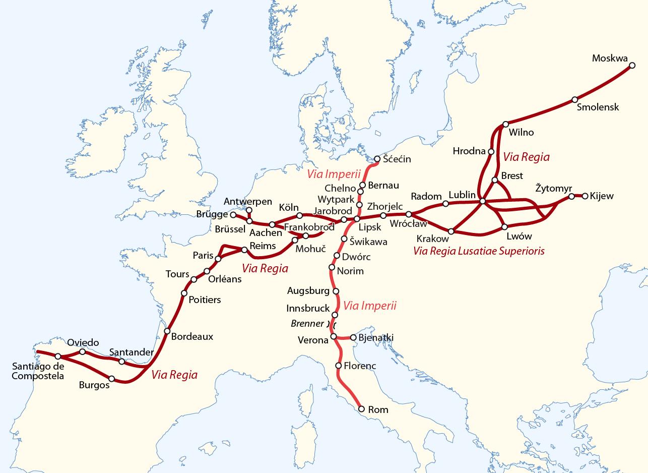 Via Regia und Via Imperii - hsb