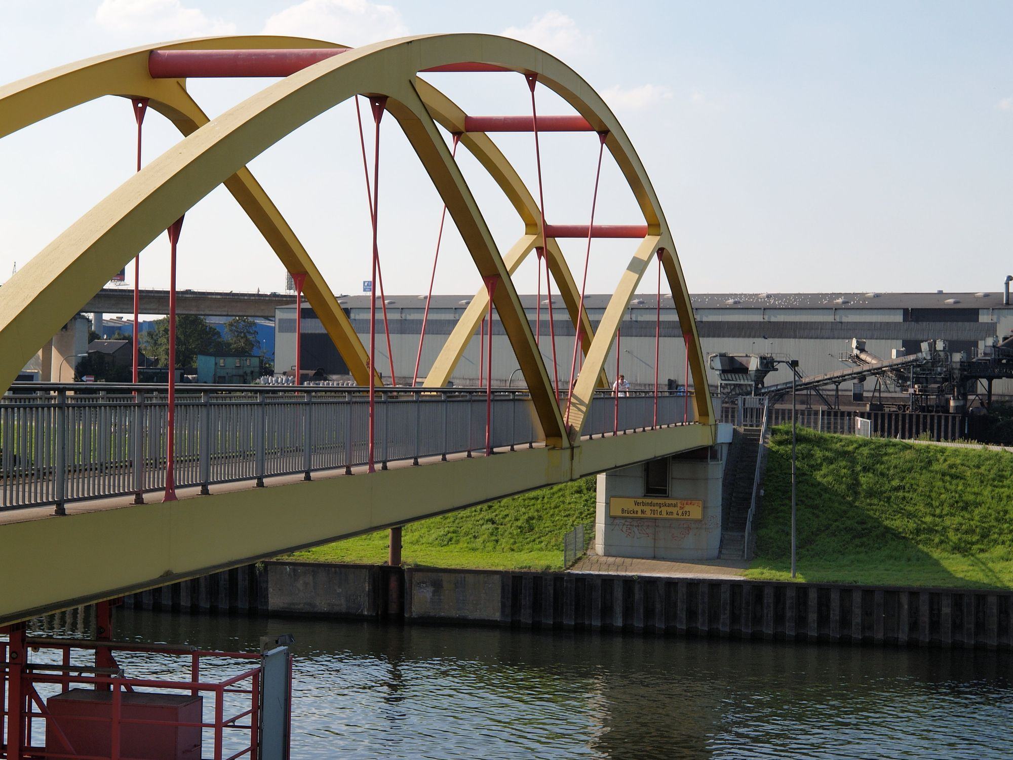 Bridge over Ruhr canal at Duisburg
