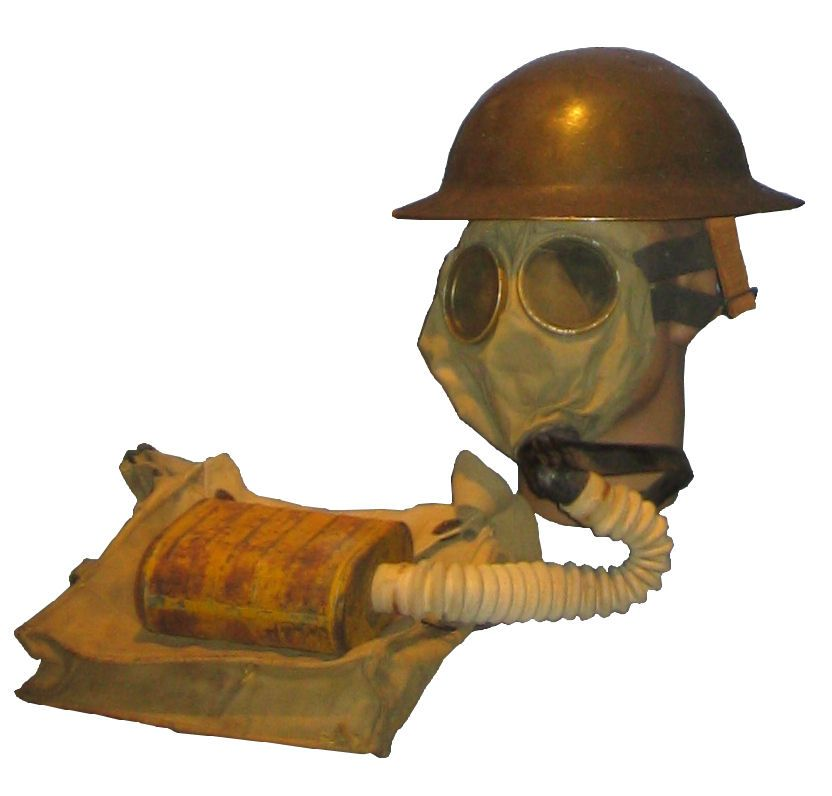 US WWI Gas mask with bag