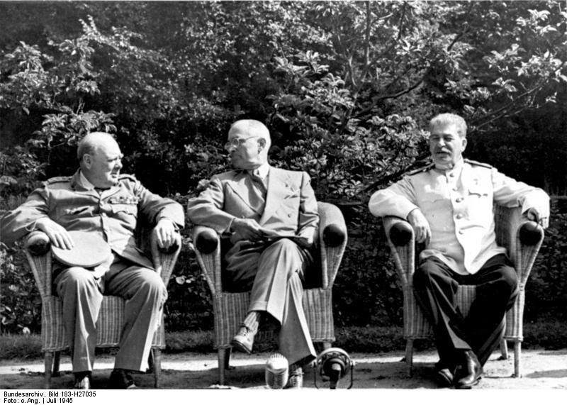Potsdamer Konferenz: Churchill, Truman, Stalin