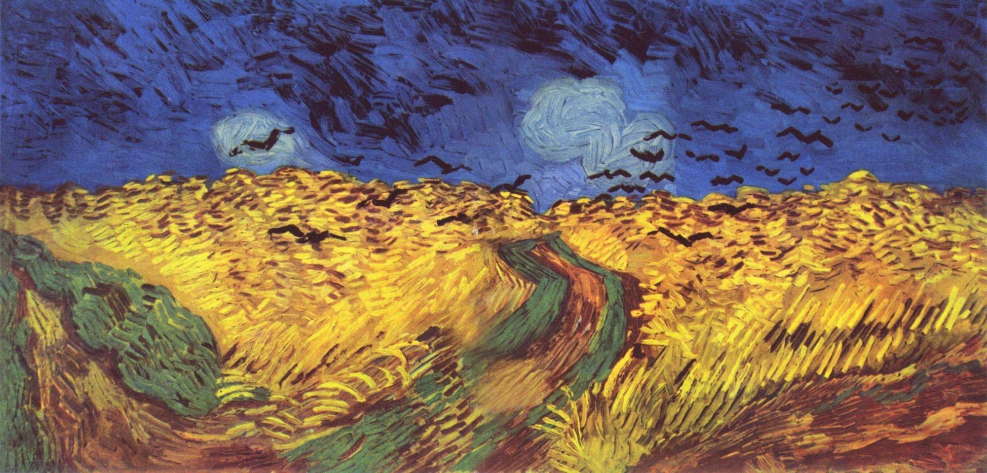 Vincent van Gogh: Weizenfeld mit Krähen (1890), Öl auf Leinwand