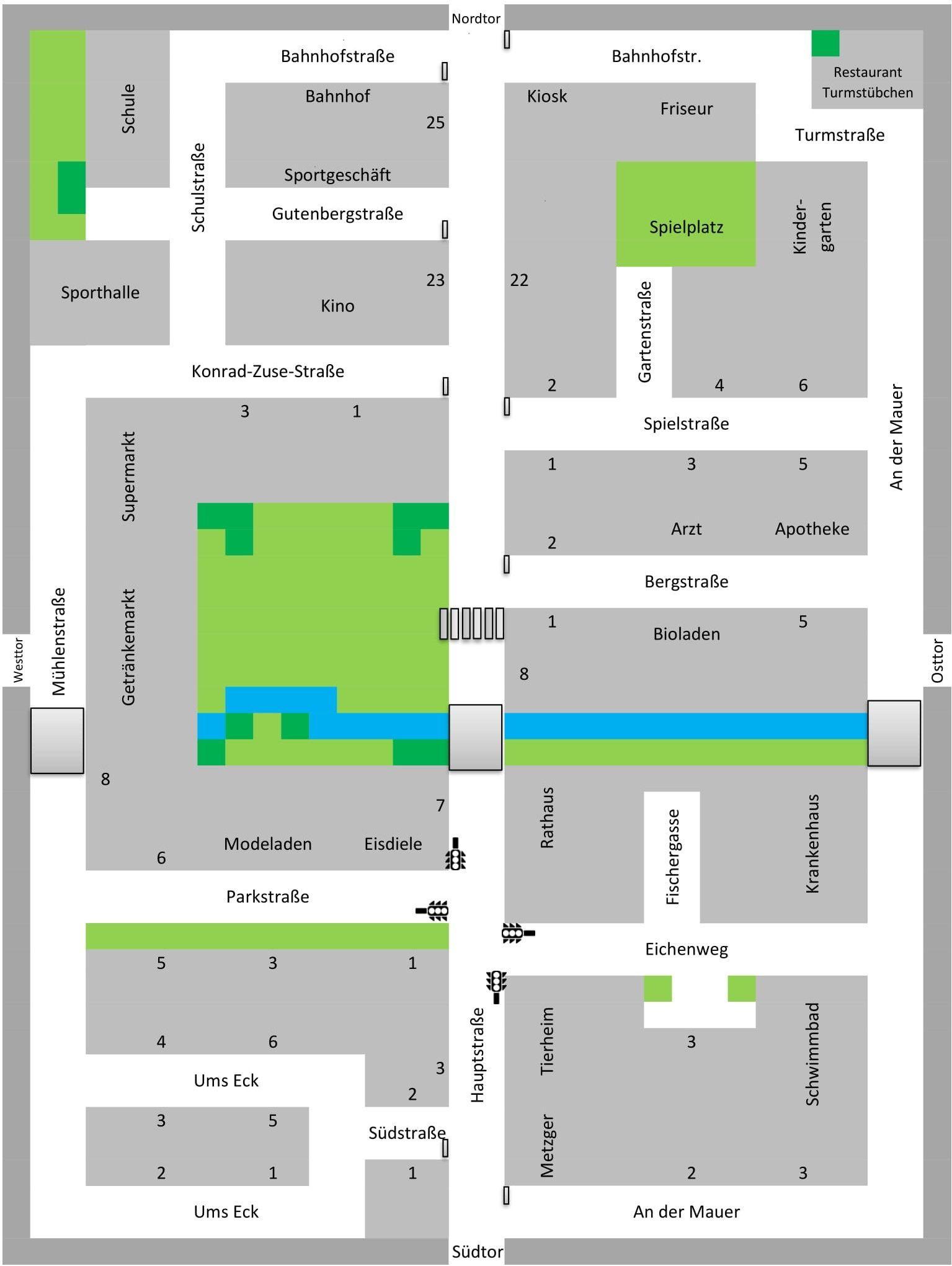 Plan von Ozo-City