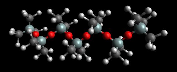 PDMS - Erstaunlich ist, dass das Zeichen-Programm bei den Sauerstoff-Atome keinen Winkel einzeichnet. Keine Ahnung ob das ein Fehler ist!?
