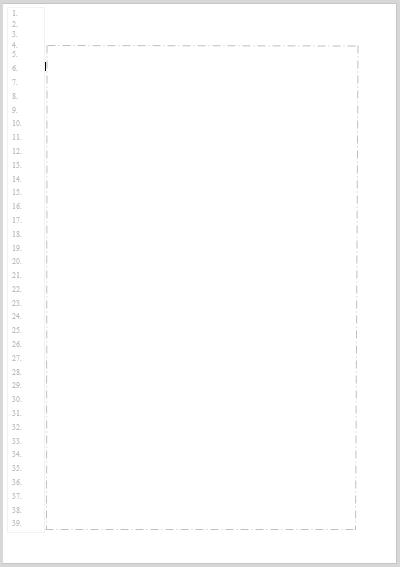Musterblatt für die handschriftliche Erstellung eines privaten Geschäftsbriefs mit Zeilennummerierung