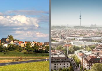 Stadt vs. Land